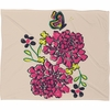 Budding Love Fleece Throw Blanket