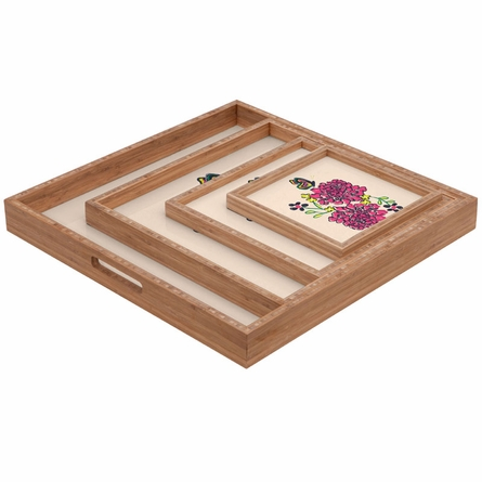 Budding Love Square Tray
