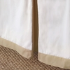 Buff Windowpane Bed Skirt
