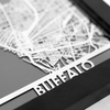Buffalo Stainless Steel Framed Map