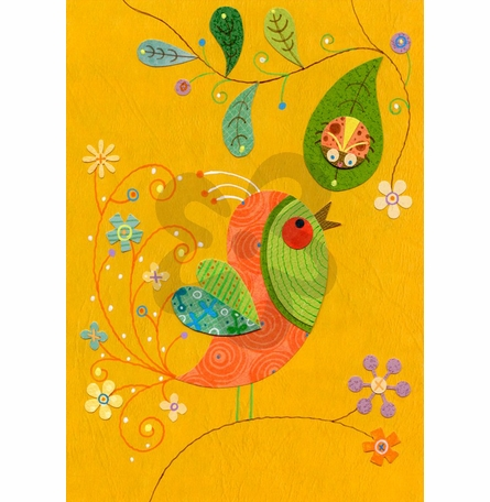 Bug and Bird Buddies Canvas Reproduction