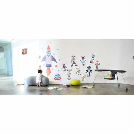 Build A Bot Fabric Wall Decals