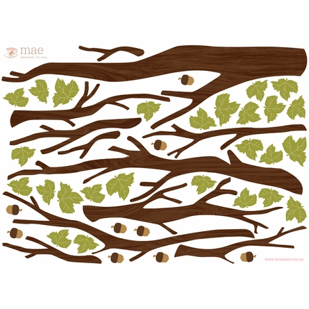 Build a Tree Dark Fabric Wall Decals