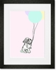 Bulldog and Balloon Framed Art Print
