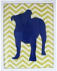 Bulldog Chevron Art Print