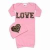 Bundle of Love Cheetah Pink Love Gown Set