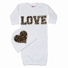 Bundle of Love Cheetah White Love Gown Set