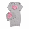 Bundle of Love Gray and Pink Love Gown Set