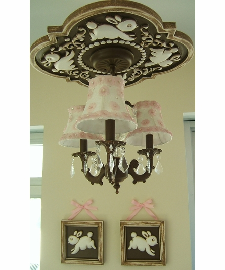 Bunnies Chandelier Medallion