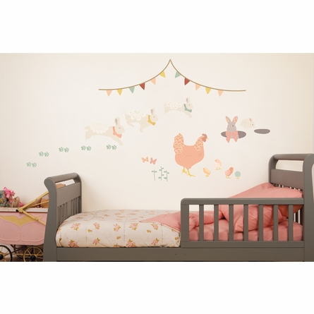 Bunny Adventures Fabric Wall Decals