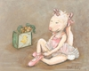Bunny Ballerina Canvas Reproduction