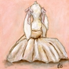 Bunny Ballerina III Canvas Reproduction