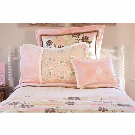 Bunny Ballet Floral 3 Piece Custom Bedding Set