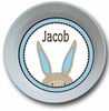 Bunny Boy Personalized Melamine Bowl