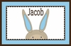 Bunny Boy Personalized Placemat