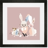 Bunny Business Framed Art Print