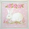 Bunny Facing Left Deco Art Plaque
