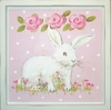 Bunny Facing Right Deco Art Plaque