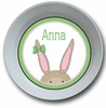 Bunny Girl Personalized Melamine Bowl