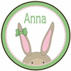 Bunny Girl Personalized Melamine Plate
