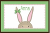 Bunny Girl Personalized Placemat