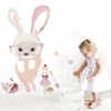 Bunny In Glasses Peel & Place Wall Stickers