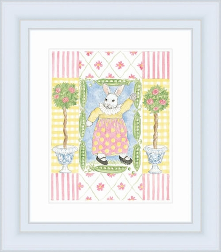 Bunny In Pink Framed Lithograph