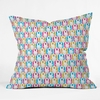 Bunny Squares Throw Pillow