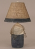Buoy Lamp with Net in Cottage and Navy Accent