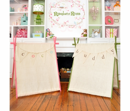 Burlap Children's Playroom Tent