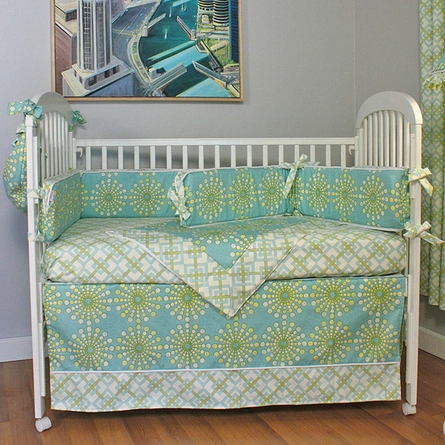 Burst Seagrass Crib Bedding