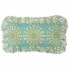 Burst Seagrass Throw Pillow - Lumbar
