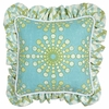 Burst Seagrass Throw Pillow - Square