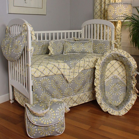 Burst Sterling Crib Bedding Set