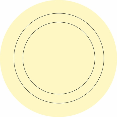 Buttercup Yellow Baby Concentric Dot Wall Decals