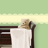 Buttercup Yellow Baby Scalloped Stripe Wall Decal