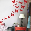 Butterflies Kids Wall Sticker in Red