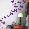 Butterflies Kids Wall Sticker in Violet
