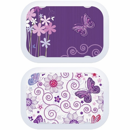 Butterflies Lunch Box - Lavender