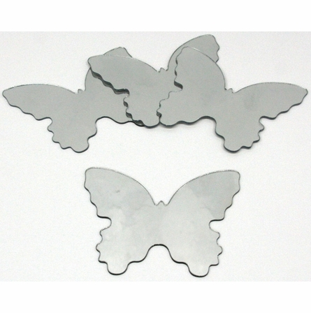 Butterfly 4-Pack Peel & Stick Wall Mirror Appliques