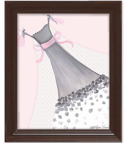 Butterfly Couture Framed Canvas Reproduction