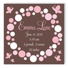 Butterfly Dots Personalized Canvas Birth Announcement