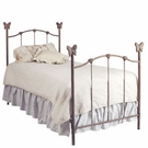 Butterfly Finial Iron Bed