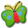 Butterfly Green and Yellow Back Drawer Pull