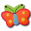 Butterfly Orange and Green Back Drawer Pull