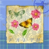 Butterfly Papillon Plaid II Canvas Reproduction