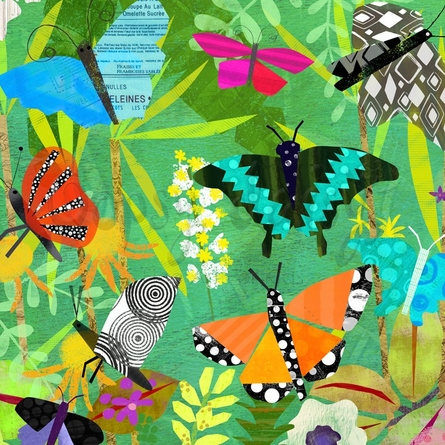 Butterfly Pavilion Canvas Wall Art