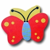 Butterfly Red and Yellow Back Drawer Pull
