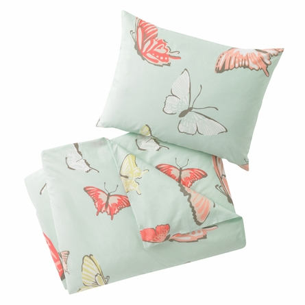 Butterfly Robin's Egg Duvet Set