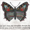 Butterfly Small Vintage Art Print on Wood